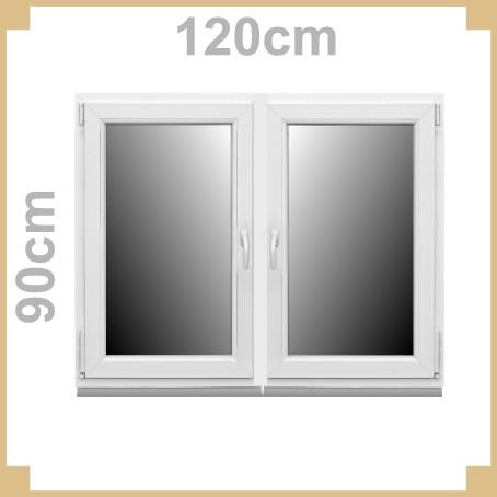 Kunststofffenster 120 x 90cm 2 fl glig kunststoff fenster for Wohnraumfenster kunststoff