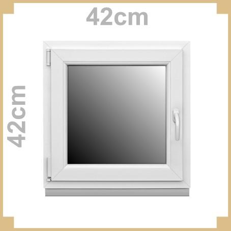 Kunststofffenster 42 x 42cm links kunststoff fenster for Wohnraumfenster kunststoff