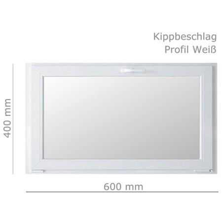 Kunststofffenster 60x40cm kippfenster kellerfenster mehrzweckfenster wei 1fl gl ebay for Kunststofffenster kellerfenster